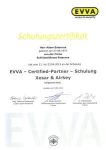Zertifikat: Schulung Xesar & Airkey